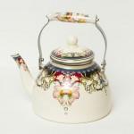 Фото 29: Расписной эмалированный чайник