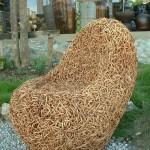 Фото 21: Ротанговое кресло из переплетенной лозы