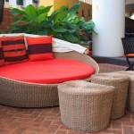 Фото 22: Ротанговая мебель для патио