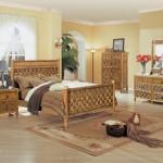 Фото 24: Ротанговая мебель в спальне