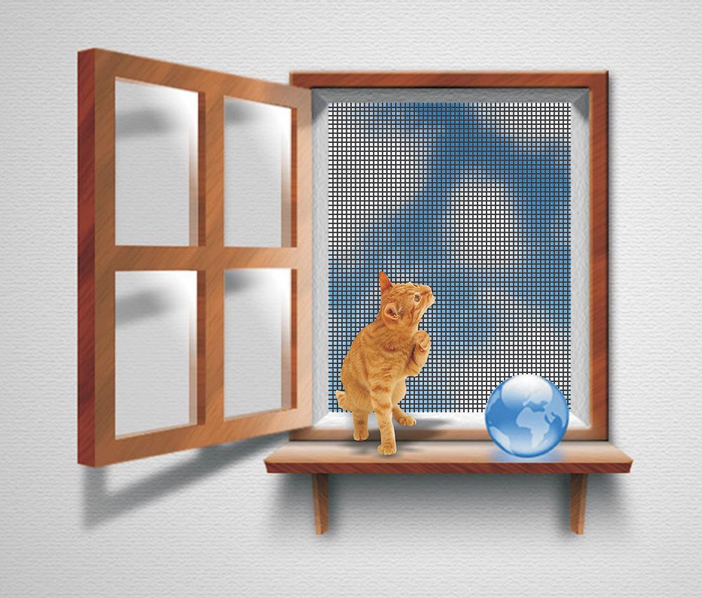 Москитная сетка от защиты кошек