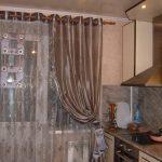 Фото 4: Шторы на кухню на балкон фотопример
