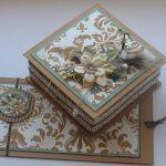 Фото 29: Шкатулка и открытка в едином стиле с помощью скрапбукинга