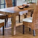 Фото 28: Сочетанеи ротанга и деревянной мебели