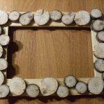 Фото 44: Оформление рамки спилами