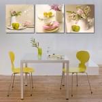 Фото 30: Украшение стен столовой картинами