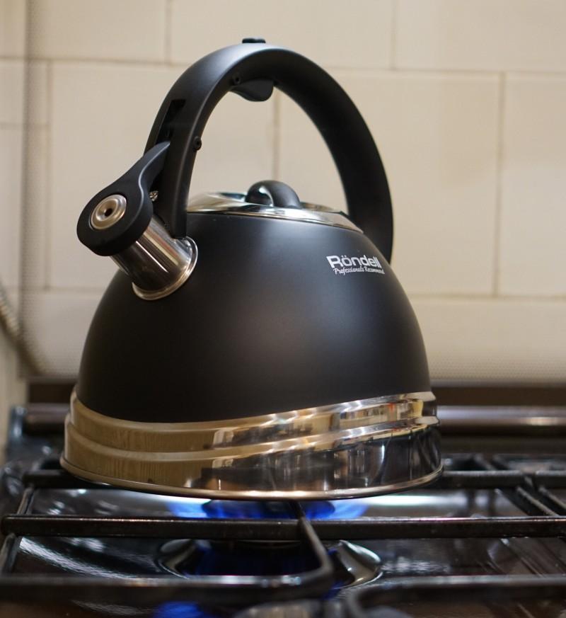 Вместительный чайник для плиты