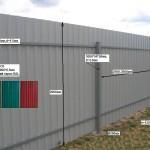 Фото 12: Забор из профлиста