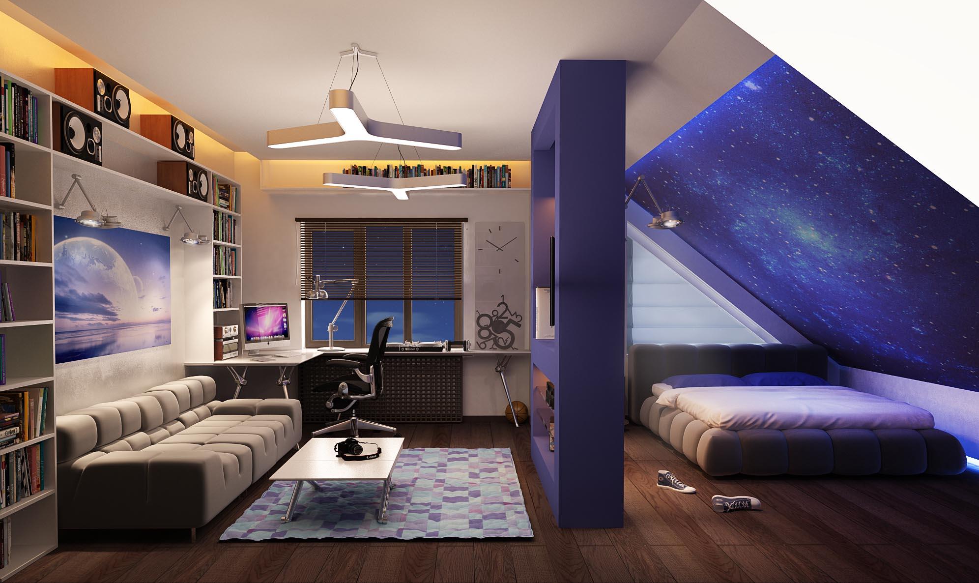 Дизайн стильной комнаты