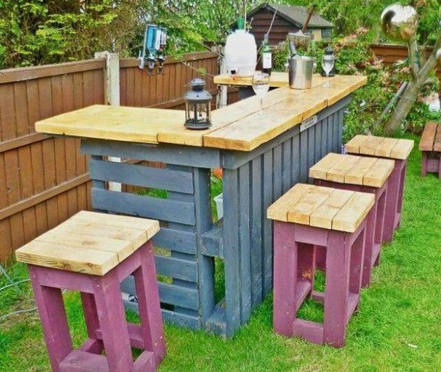 садовый бар из поддонов4