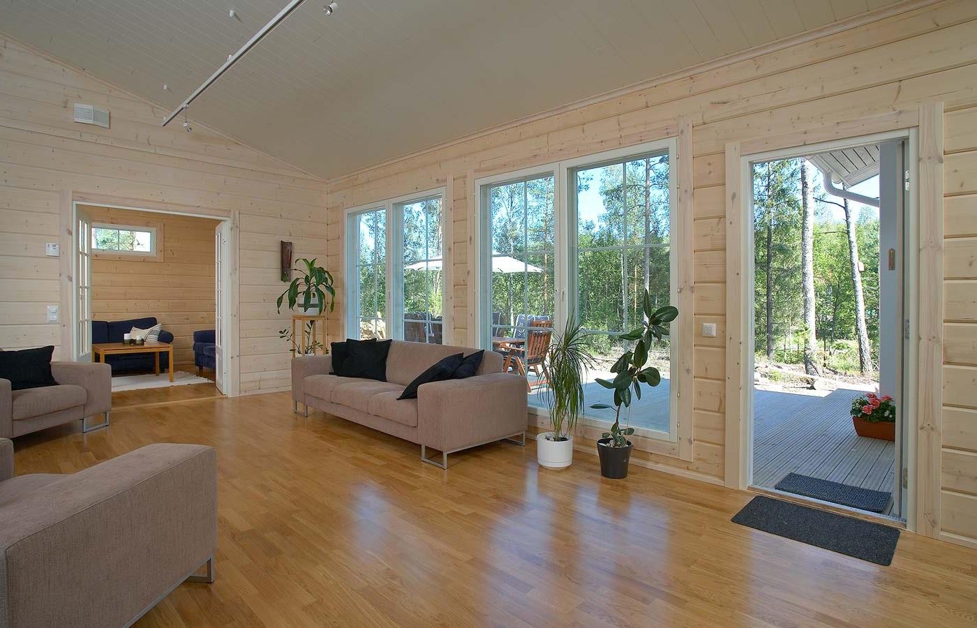 Финские дома из клееного бруса внутри