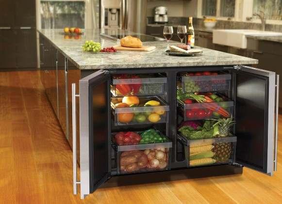 холодильник в разделочном столе1