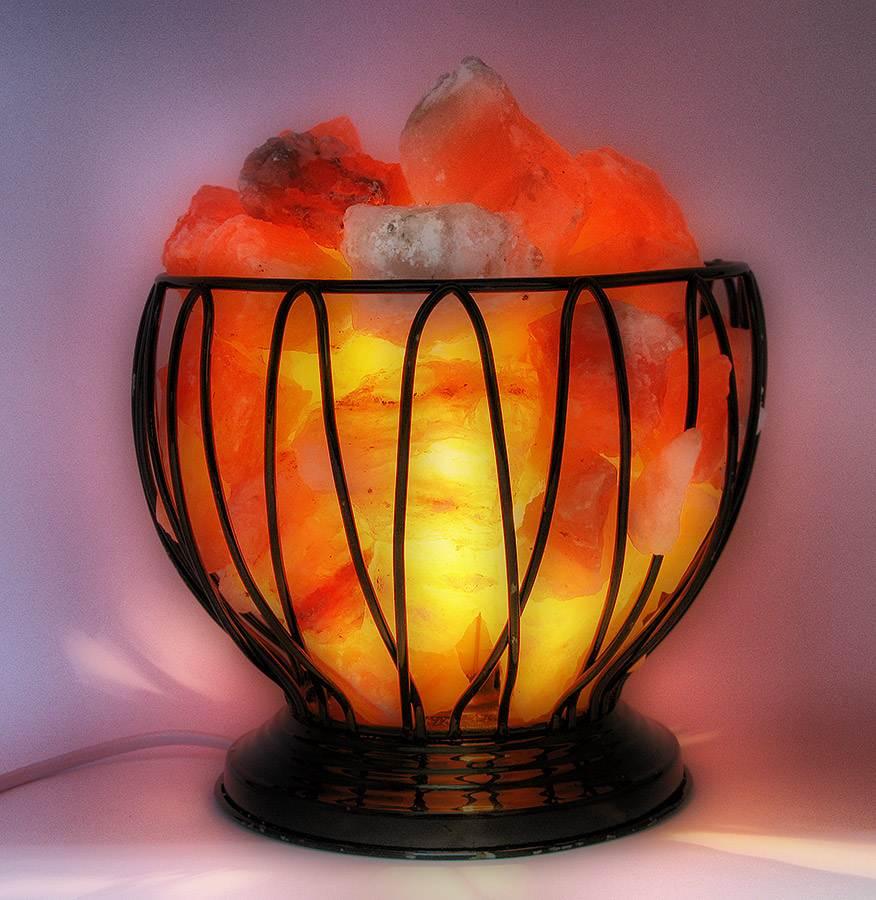 Лампа в горшке