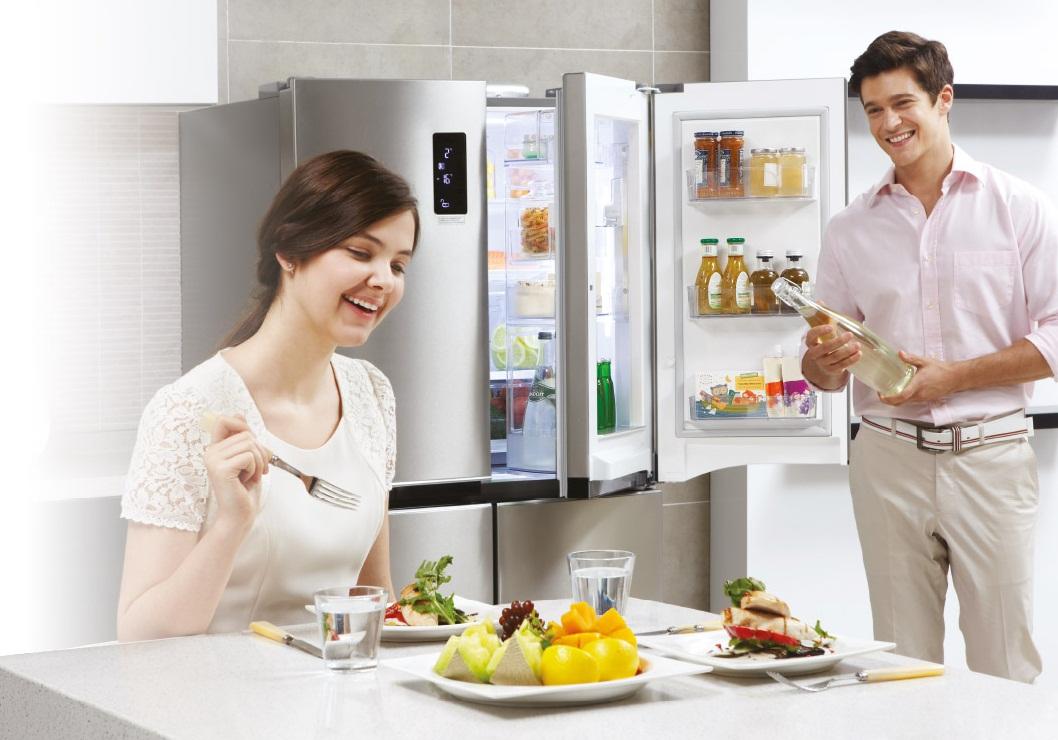 Вместительный холодильник lg