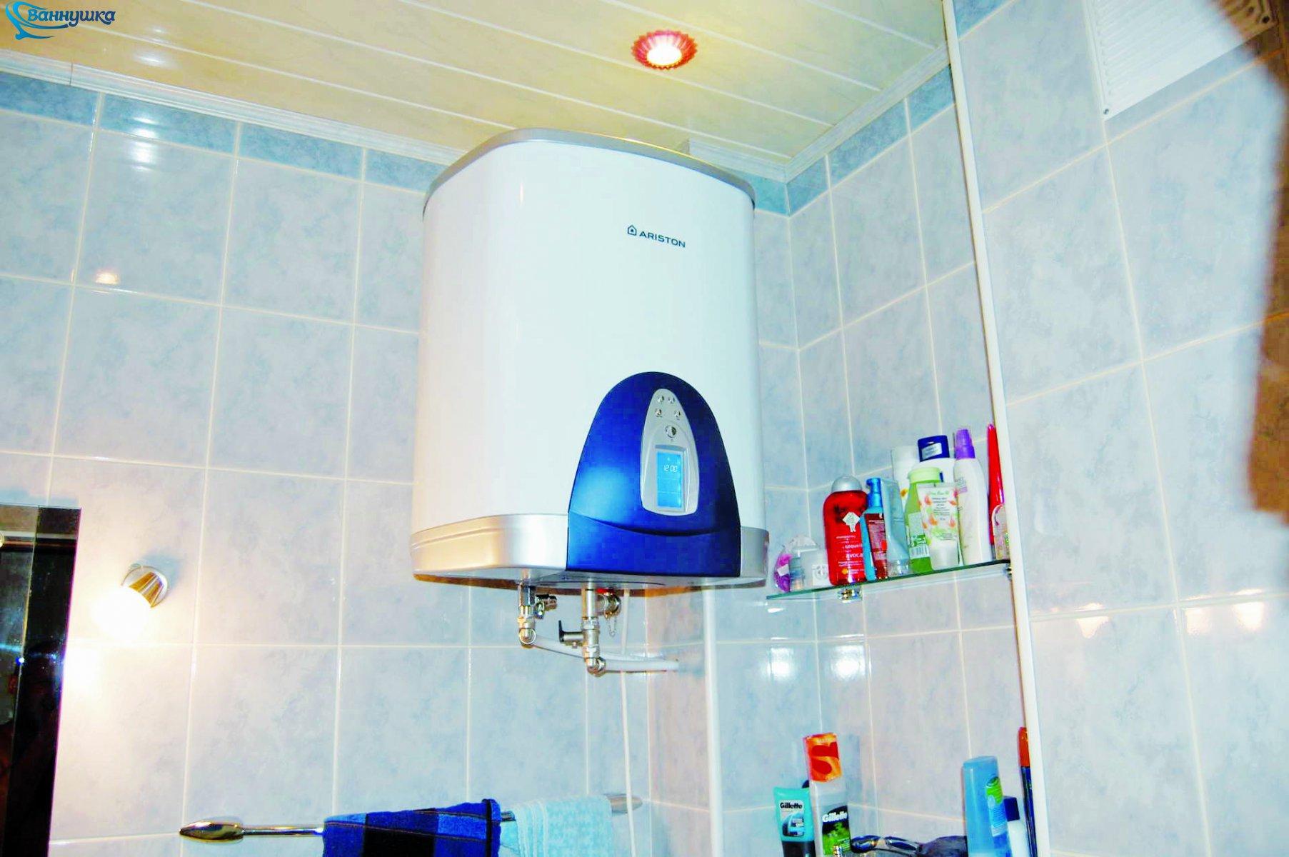 Пример установки в ванной
