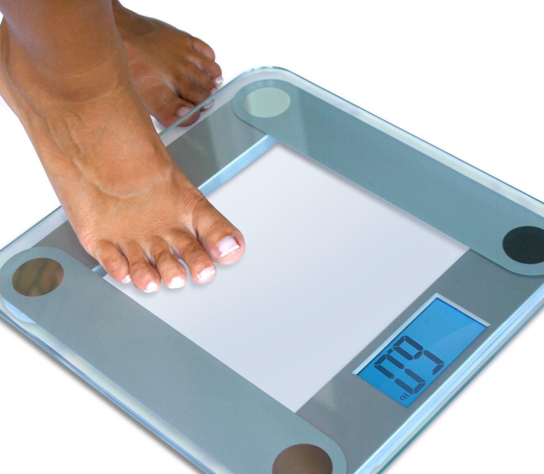 Электронные напольные весы с крупным циферблатом