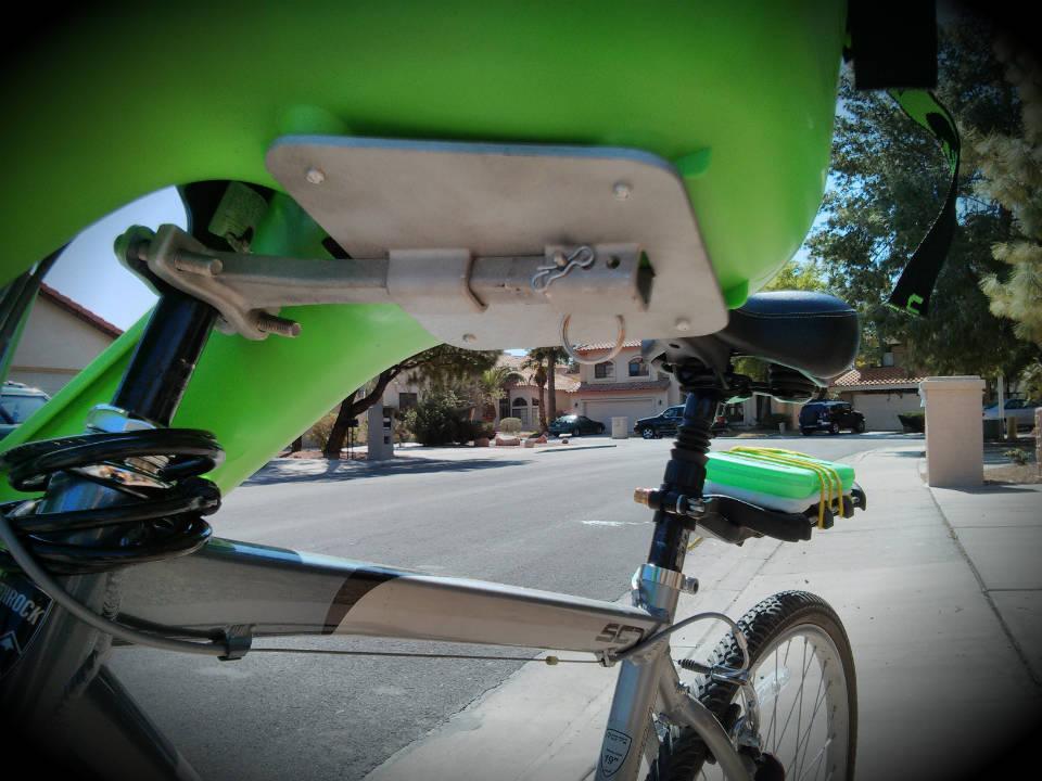 Монтаж кресла на велосипед