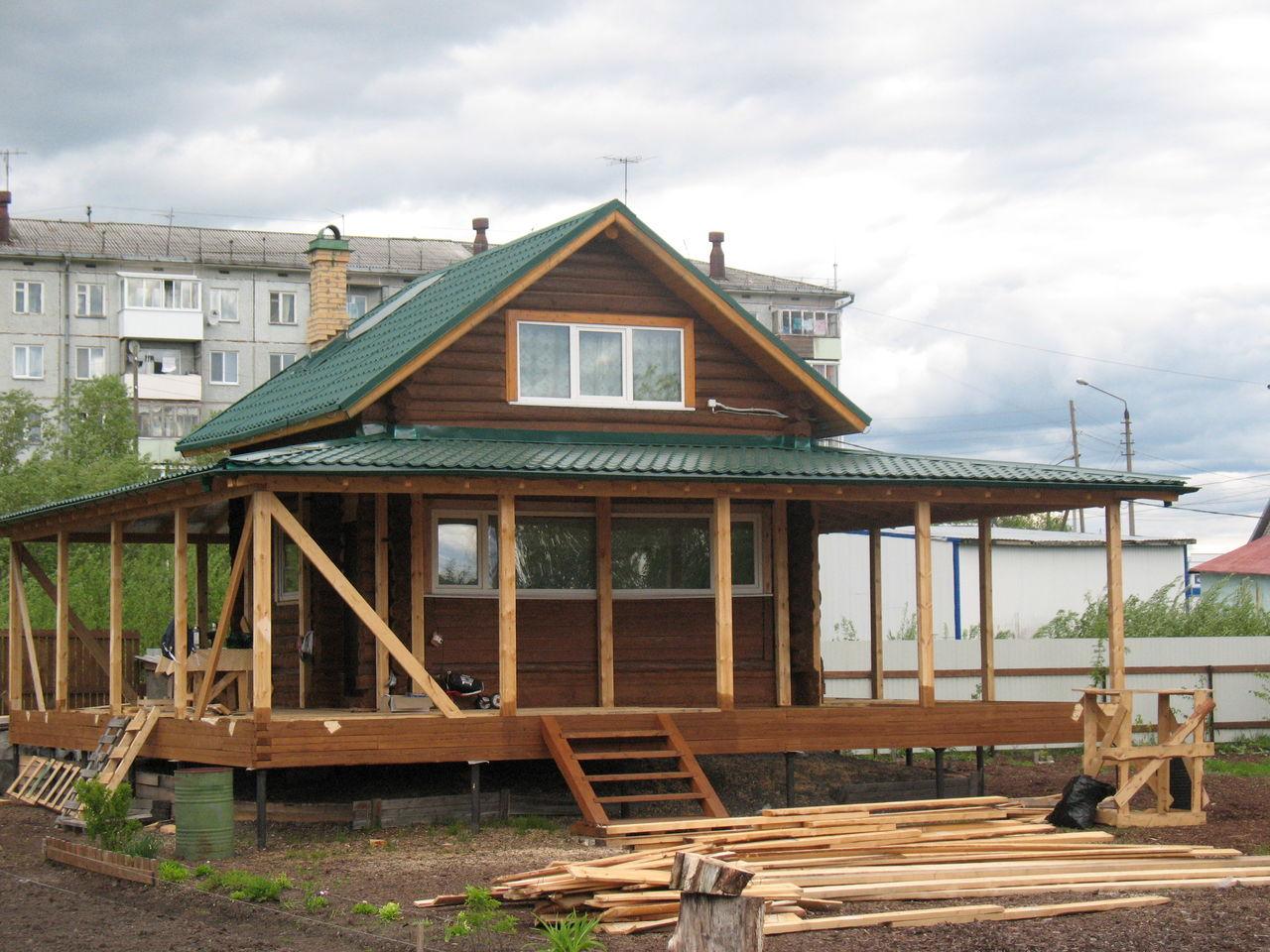 Как пристроить гараж к деревянному дому своими руками фото фото 739