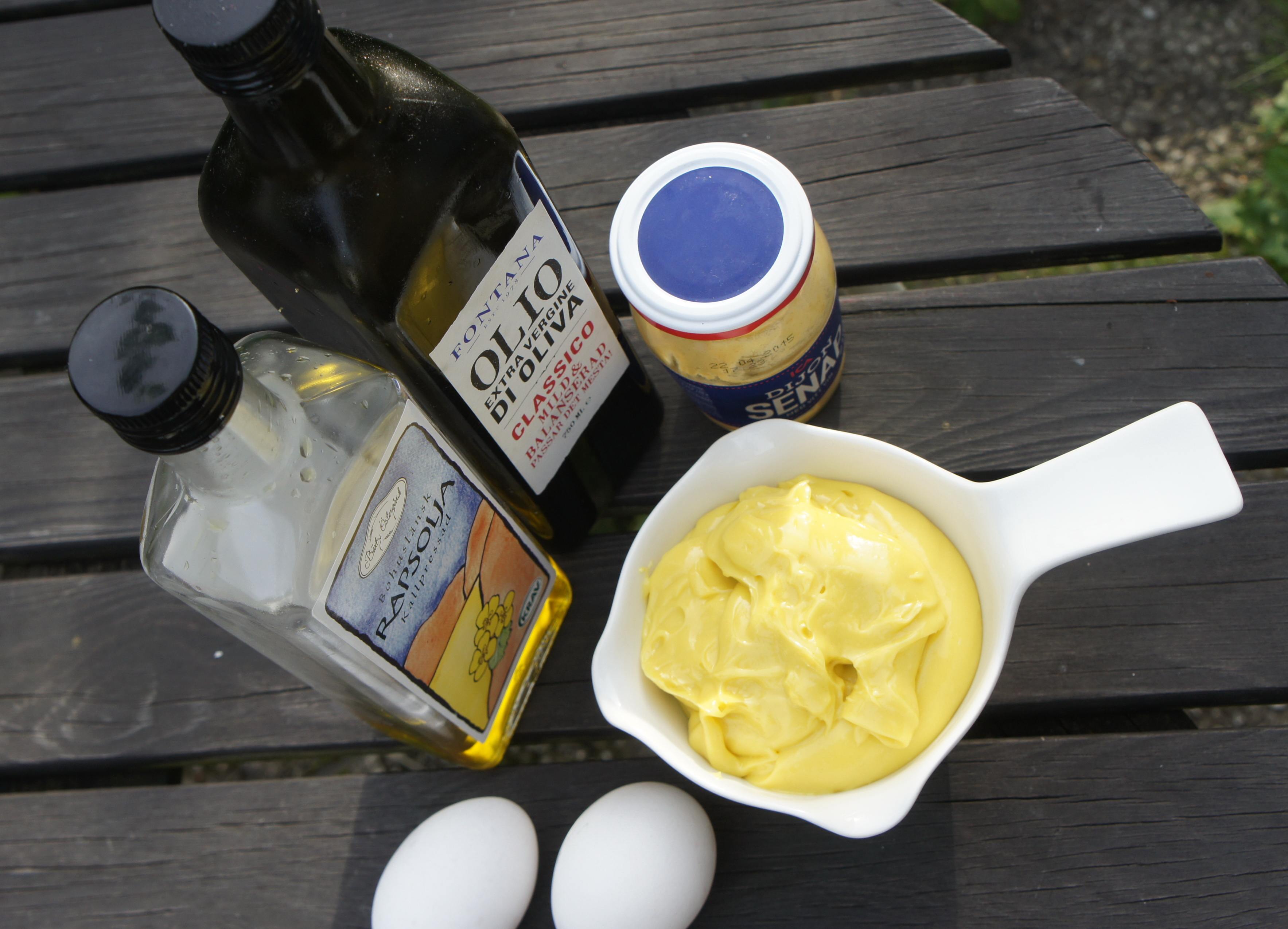 Масло и яйца