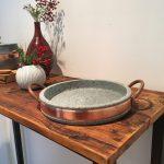 Фото 65: Каменная сковорода с меднымиручками