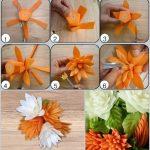 Фото 77: Цветы из моркови