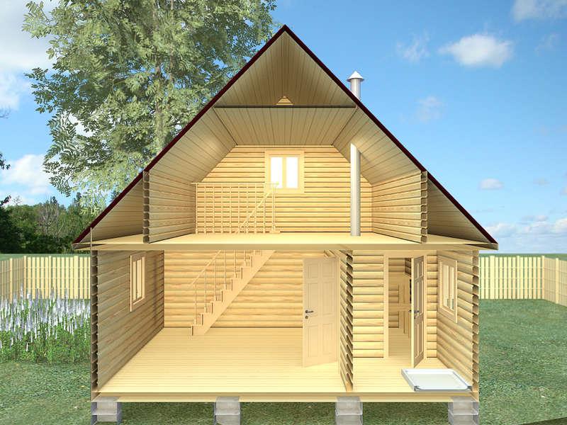 Проект дома-бани