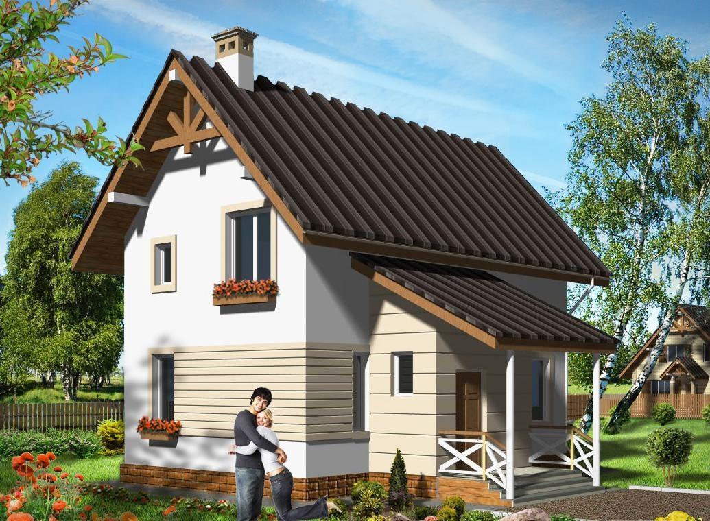 Дом из пеноблока с крышей