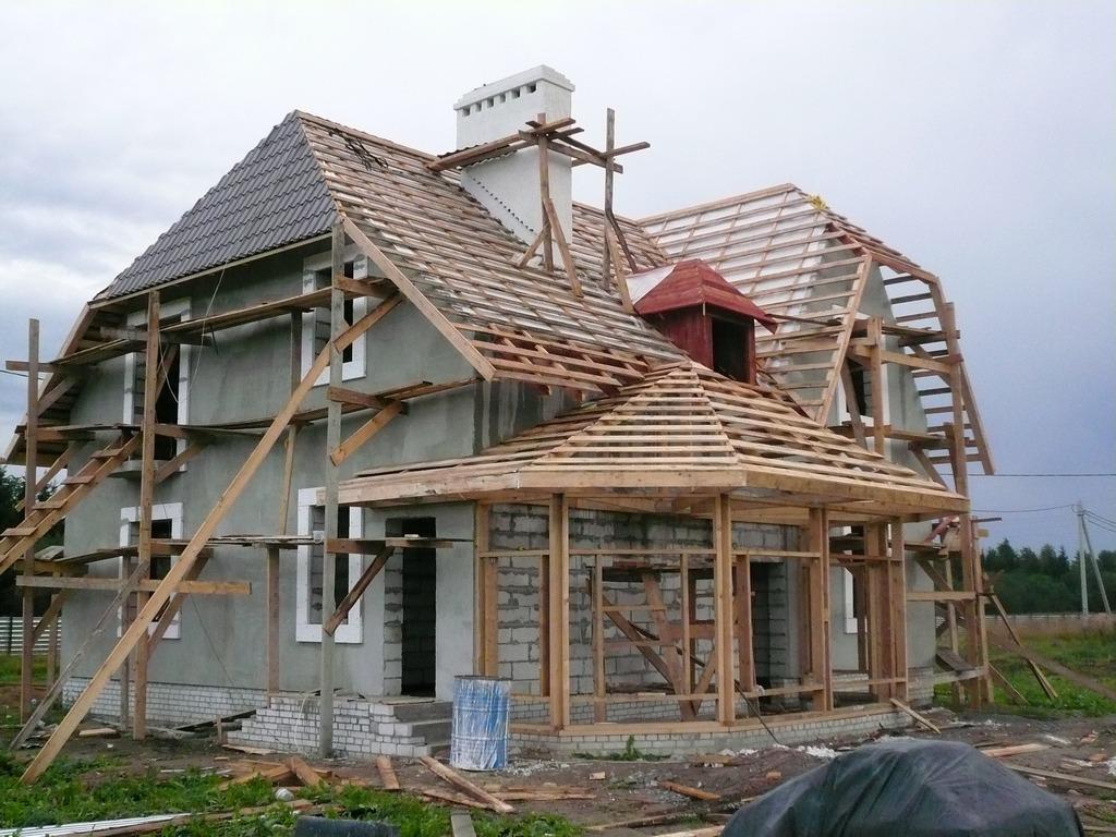 Дом из пеноблока монтаж