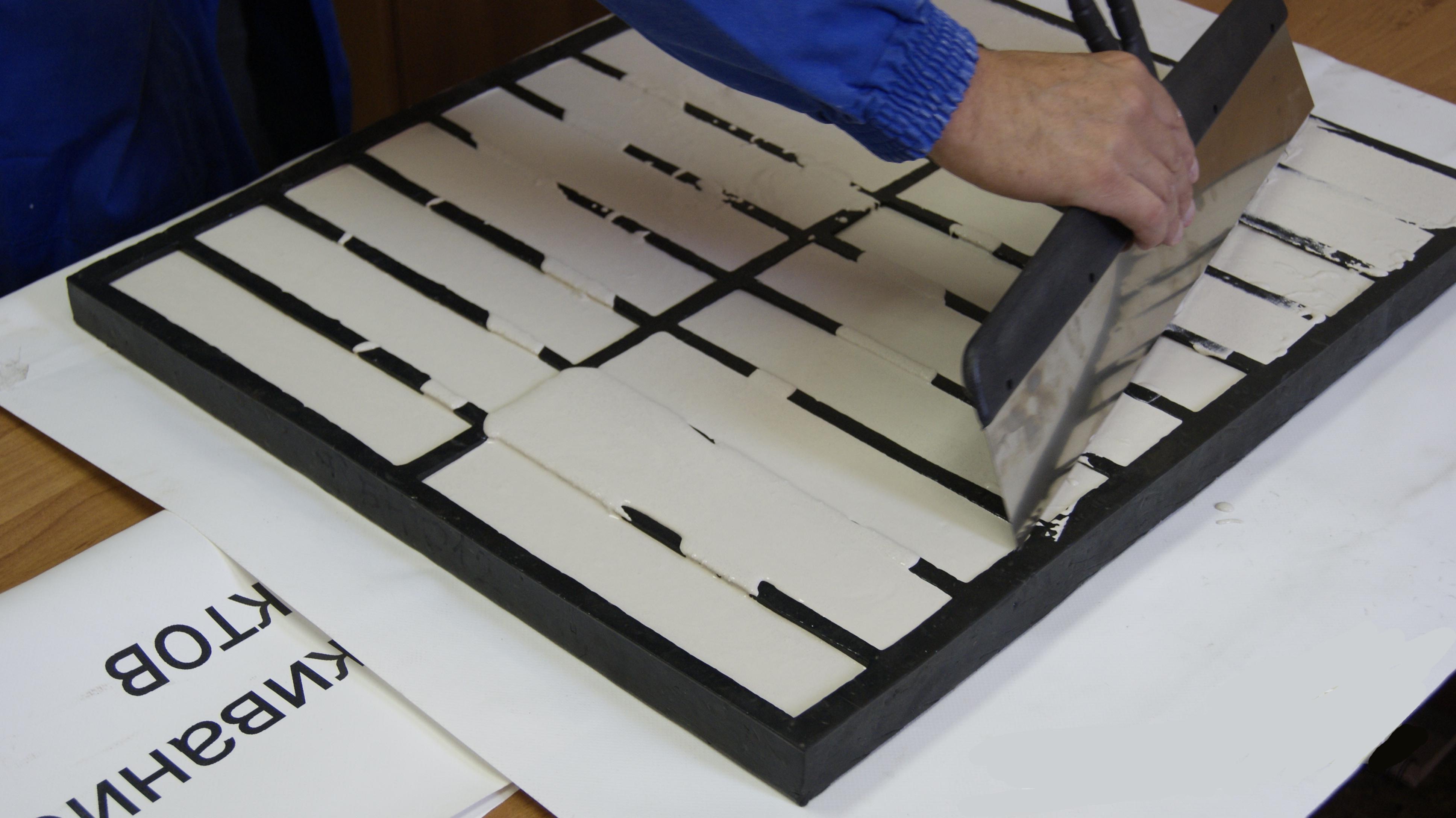 Изготовление гипсовой плитки под камень