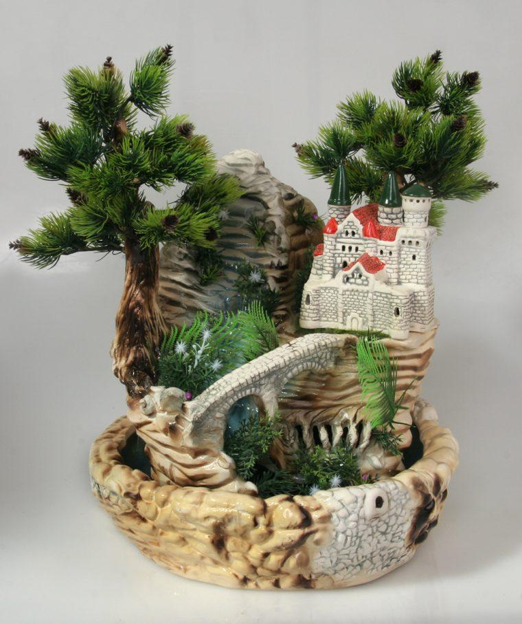 Декоративные фонтаны для квартиры настольные своими руками 33