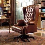 Фото 11: Кожаное офисное кресло