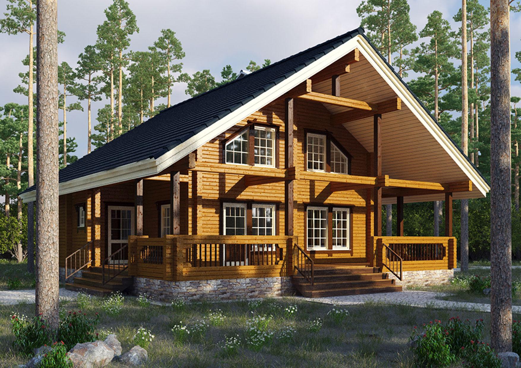 Финские дома из клееного бруса фото