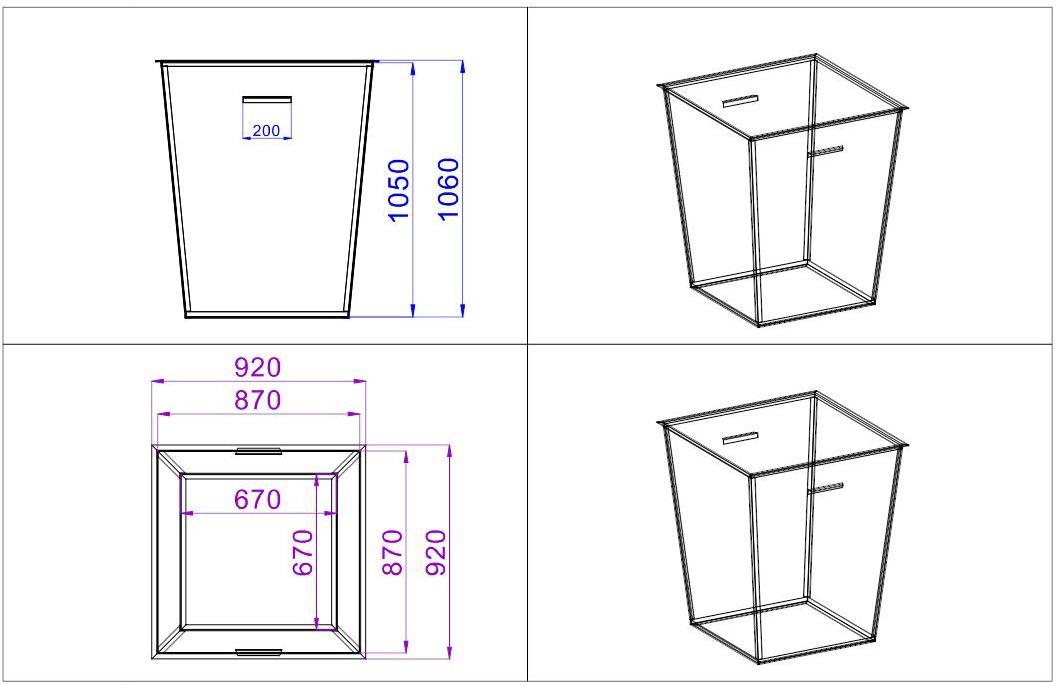 Схема и размеры баков