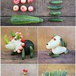 Фото 95: Несколько поделок из овощей