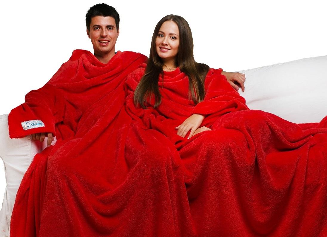 Плед с рукавами для пары