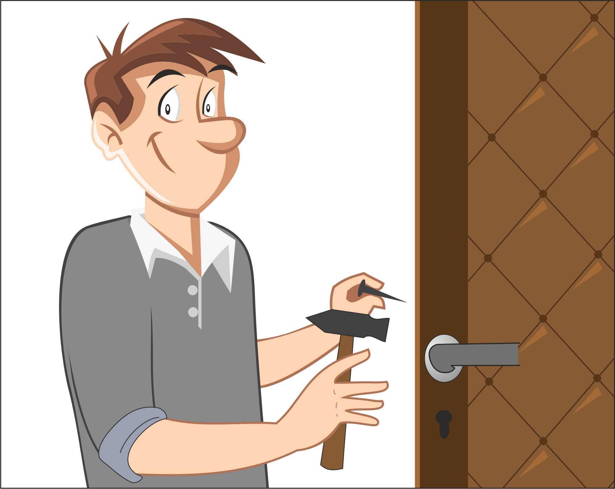 Обивка двери
