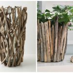 Фото 18: Отделка кашпо и вазы ветками