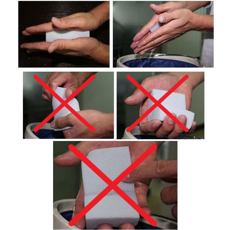 Правильный отжим меламиновой губки
