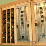 Фото 20: Отделка кухонных шкафчиков витражом