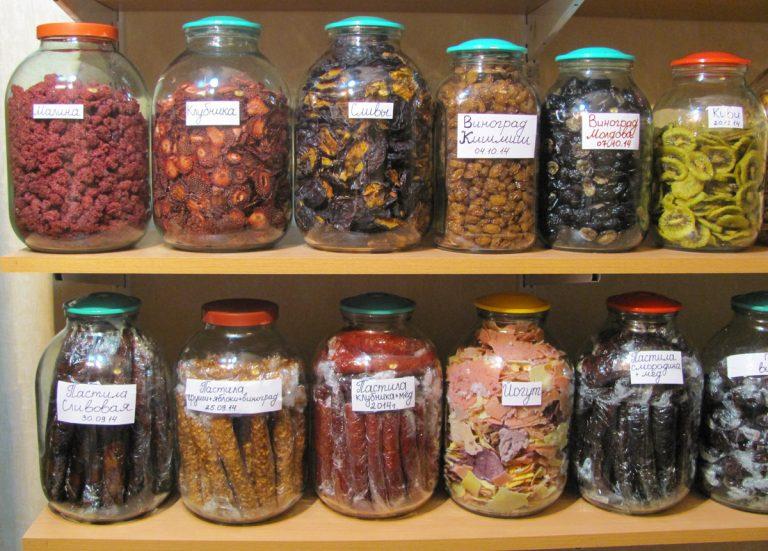Как хранить сушеные овощи в домашних условиях