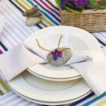 Фото 62: Украшение тарелки галькой