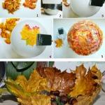 Фото 28: Ваза из листьев клена