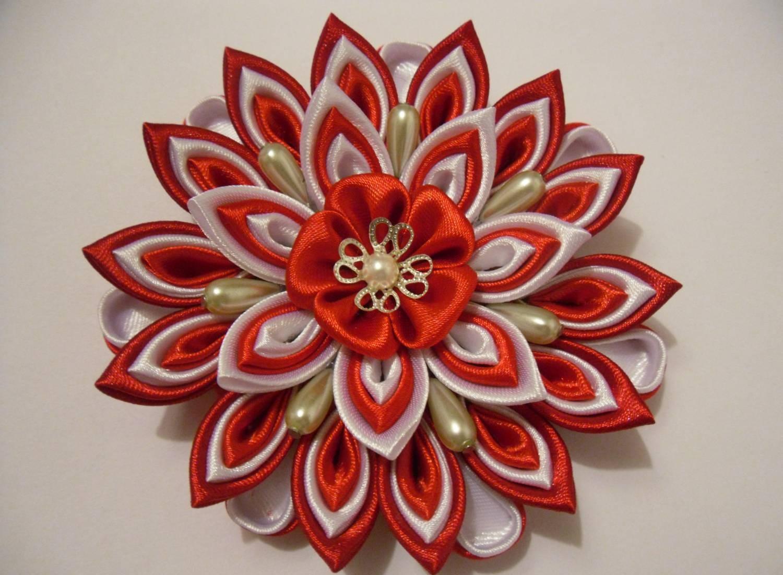 Канзаши новые идеи цветков 2016