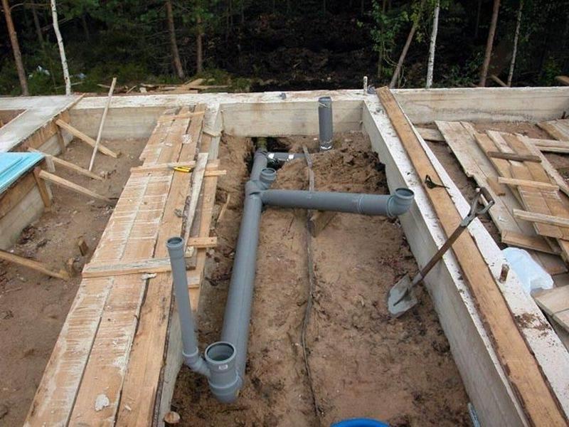 Обустройство уклона канализации на 1 метр