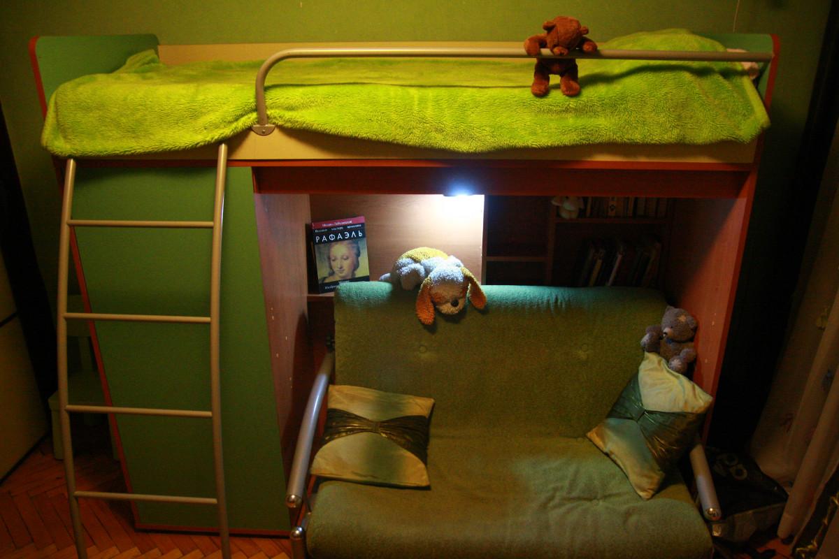 Кровать чердак с диваном в  Москве
