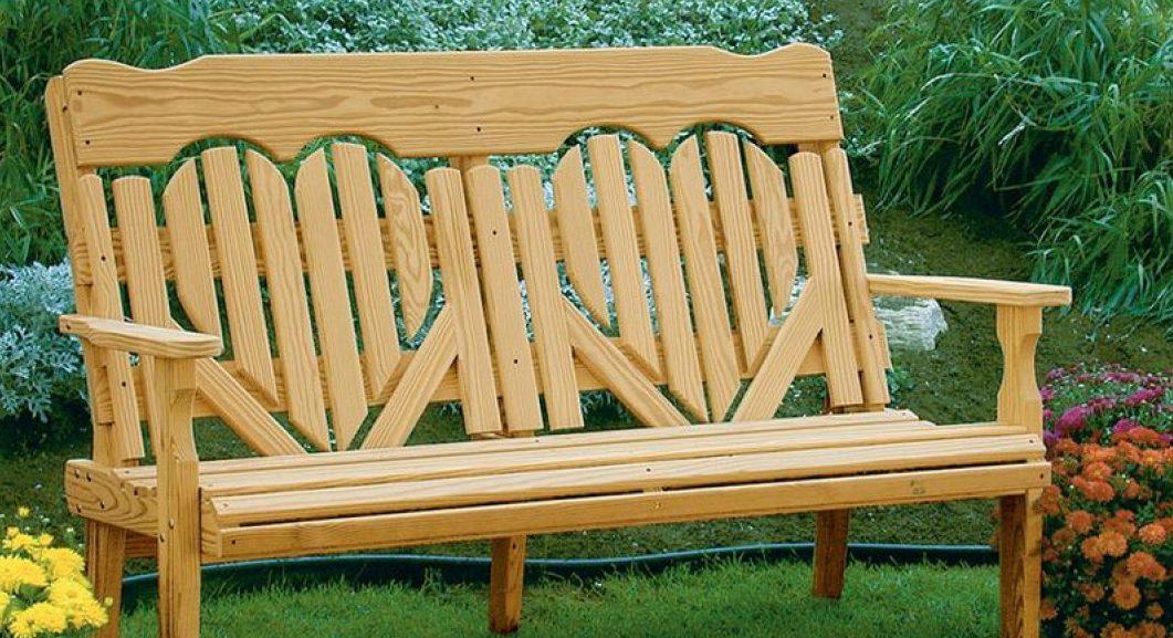 Садовая скамейка своими руками на фото