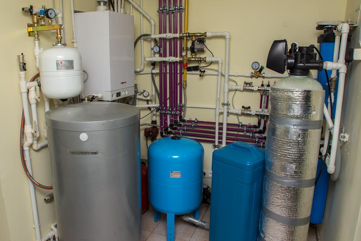 Расположение газовых котлов