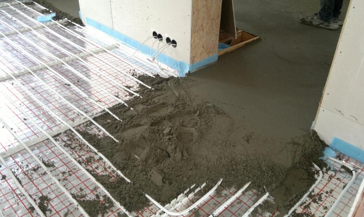 Заливка цементом