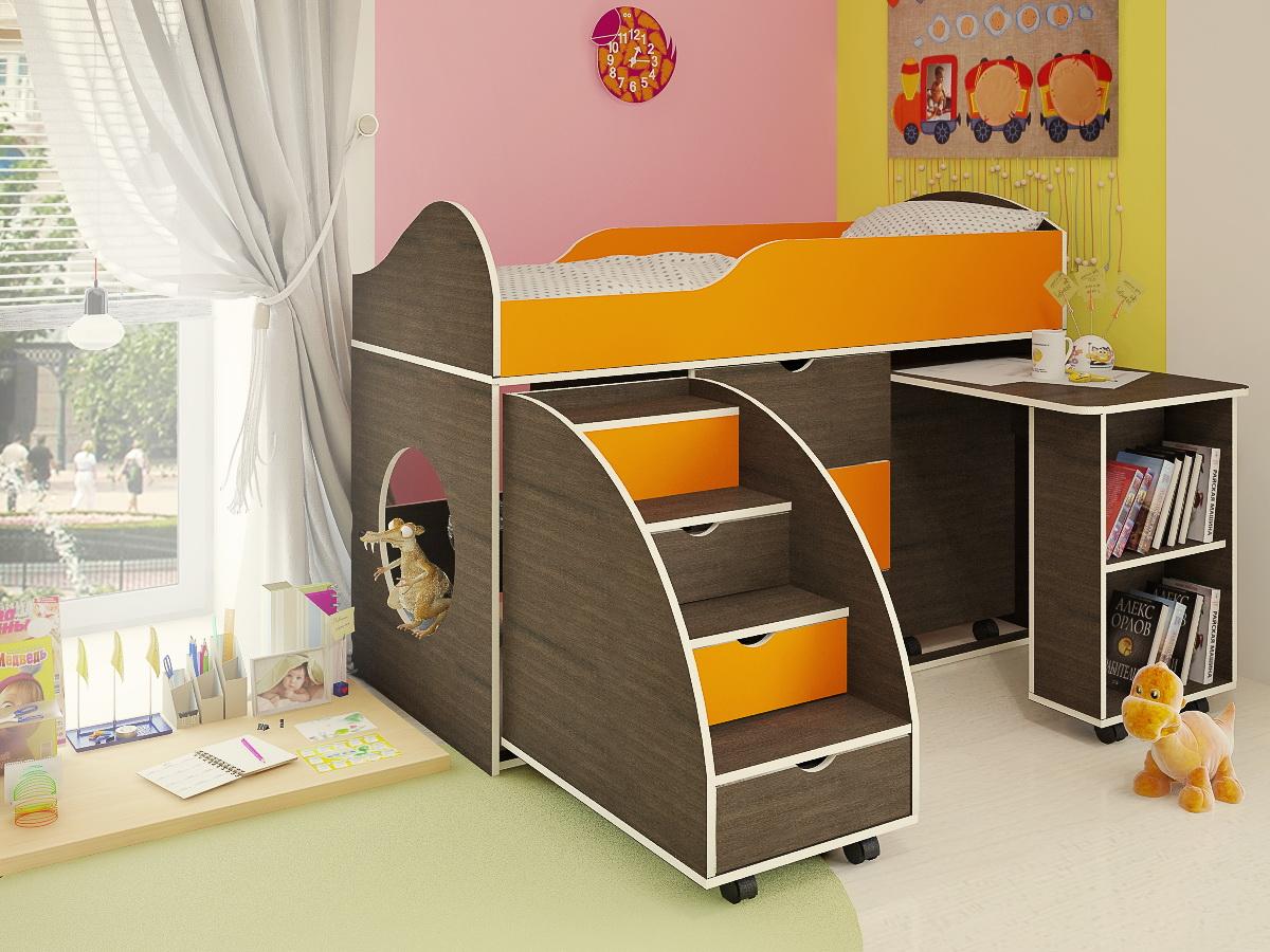 Кровать чердак с диваном внизу унисекс