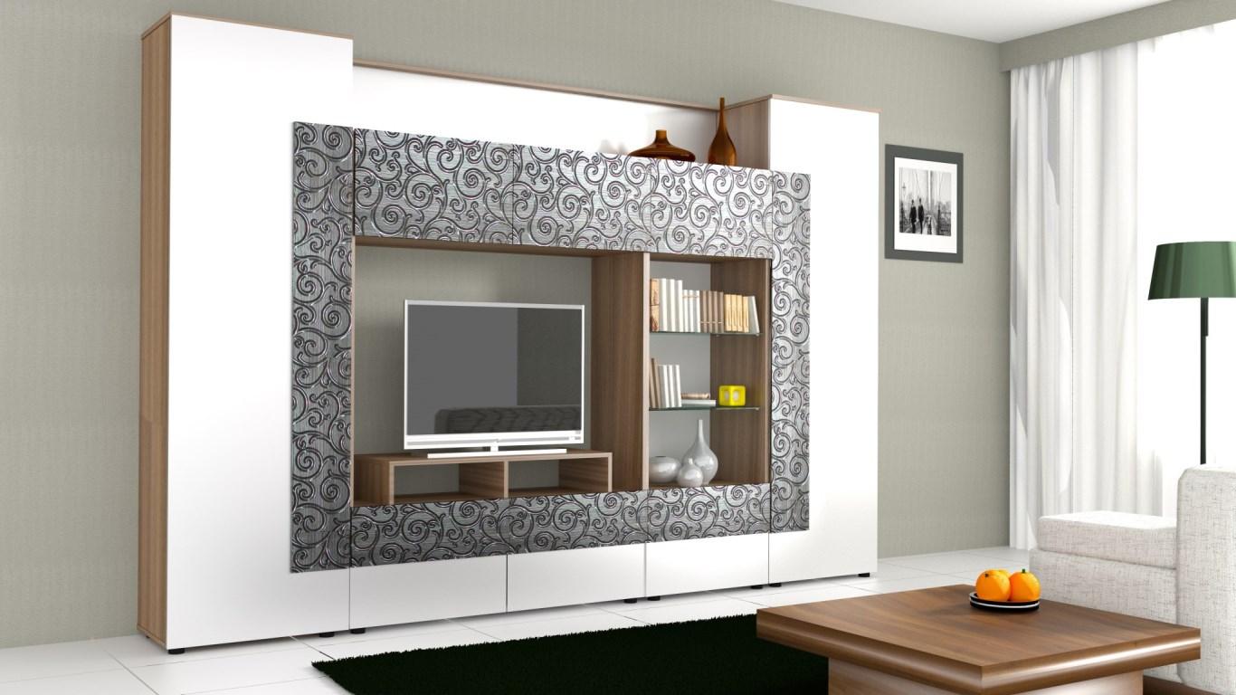 Модульная стенка в гостиную, выбираем современные решения.
